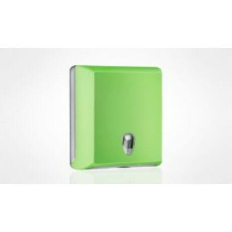 Hajtogatott kéztörlőtartó zöld