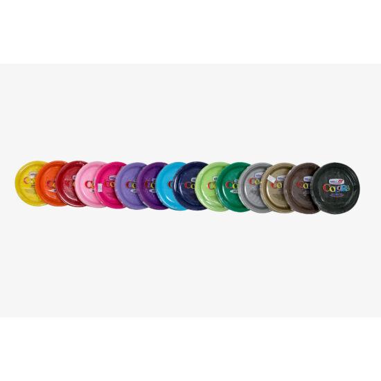 műanyag színes lapostányér