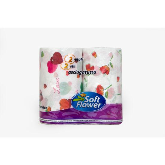 Soft Flower XXL mintás kéztörlő
