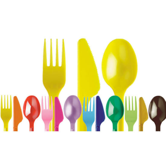 Műanyag színes evőeszköz